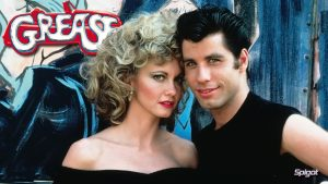 "Olivia Newton John y John Travolta en ""Grease"""